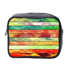 Stripes Color Oil Mini Toiletries Bag 2 Side by BangZart