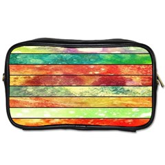 Stripes Color Oil Toiletries Bags 2 Side