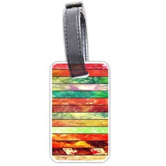 Stripes Color Oil Luggage Tags (one Side)  by BangZart