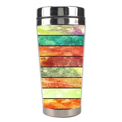 Stripes Color Oil Stainless Steel Travel Tumblers by BangZart