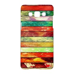 Stripes Color Oil Samsung Galaxy A5 Hardshell Case  by BangZart