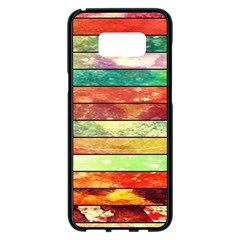 Stripes Color Oil Samsung Galaxy S8 Plus Black Seamless Case