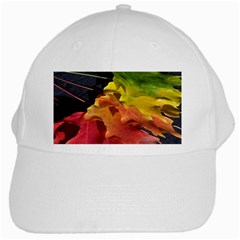 Green Yellow Red Maple Leaf White Cap by BangZart