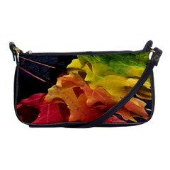 Green Yellow Red Maple Leaf Shoulder Clutch Bags by BangZart