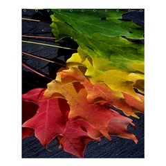 Green Yellow Red Maple Leaf Shower Curtain 60  X 72  (medium)  by BangZart