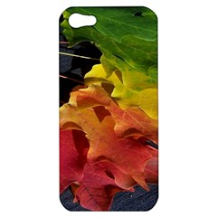 Green Yellow Red Maple Leaf Apple Iphone 5 Hardshell Case by BangZart