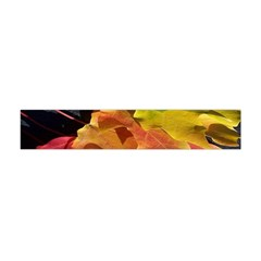 Green Yellow Red Maple Leaf Flano Scarf (mini) by BangZart