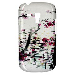 Pink Flower Ink Painting Art Galaxy S3 Mini by BangZart