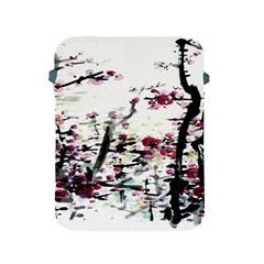 Pink Flower Ink Painting Art Apple Ipad 2/3/4 Protective Soft Cases by BangZart