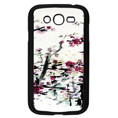 Pink Flower Ink Painting Art Samsung Galaxy Grand Duos I9082 Case (black) by BangZart