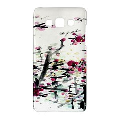 Pink Flower Ink Painting Art Samsung Galaxy A5 Hardshell Case  by BangZart