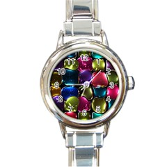 Stained Glass Round Italian Charm Watch by BangZart