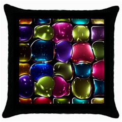 Stained Glass Throw Pillow Case (black)