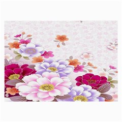Sweet Flowers Large Glasses Cloth (2 Side) by BangZart