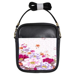 Sweet Flowers Girls Sling Bags by BangZart