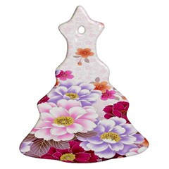 Sweet Flowers Ornament (christmas Tree)  by BangZart