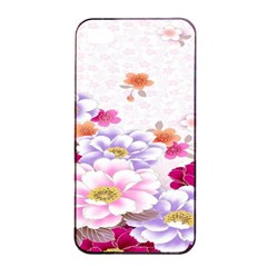 Sweet Flowers Apple Iphone 4/4s Seamless Case (black) by BangZart