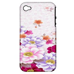 Sweet Flowers Apple Iphone 4/4s Hardshell Case (pc+silicone) by BangZart