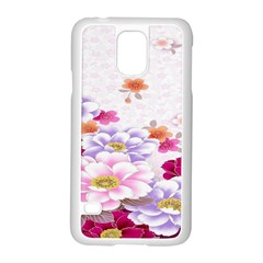 Sweet Flowers Samsung Galaxy S5 Case (white) by BangZart