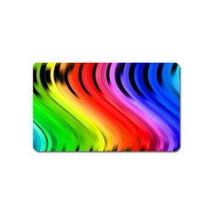 Colorful Vertical Lines Magnet (name Card) by BangZart