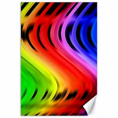 Colorful Vertical Lines Canvas 24  X 36