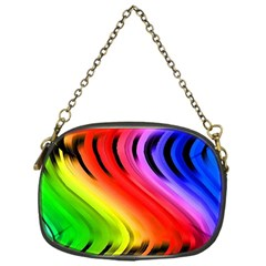 Colorful Vertical Lines Chain Purses (one Side)