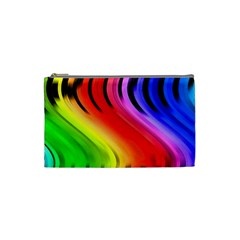 Colorful Vertical Lines Cosmetic Bag (small)  by BangZart