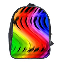 Colorful Vertical Lines School Bags (xl)  by BangZart