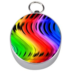 Colorful Vertical Lines Silver Compasses by BangZart