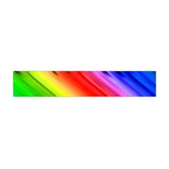 Colorful Vertical Lines Flano Scarf (mini) by BangZart