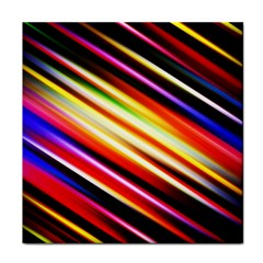 Funky Color Lines Tile Coasters by BangZart