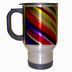 Funky Color Lines Travel Mug (silver Gray) by BangZart