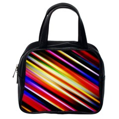 Funky Color Lines Classic Handbags (one Side) by BangZart