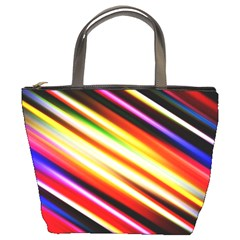 Funky Color Lines Bucket Bags by BangZart