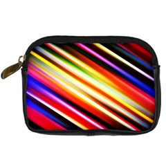 Funky Color Lines Digital Camera Cases by BangZart