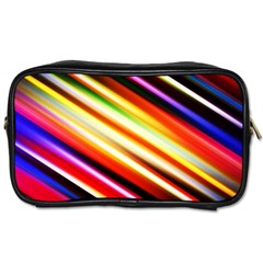Funky Color Lines Toiletries Bags 2 Side