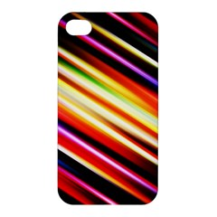 Funky Color Lines Apple Iphone 4/4s Premium Hardshell Case by BangZart