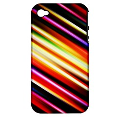 Funky Color Lines Apple Iphone 4/4s Hardshell Case (pc+silicone) by BangZart