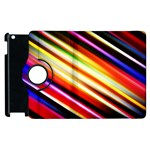 Funky Color Lines Apple iPad 2 Flip 360 Case Front