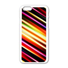 Funky Color Lines Apple Iphone 6/6s White Enamel Case by BangZart
