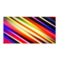 Funky Color Lines Satin Wrap