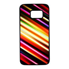 Funky Color Lines Samsung Galaxy S7 Black Seamless Case