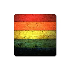 Five Wall Colour Square Magnet by BangZart