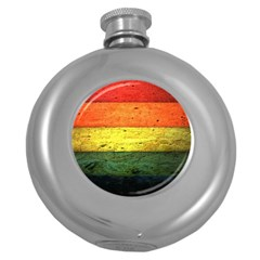 Five Wall Colour Round Hip Flask (5 Oz) by BangZart