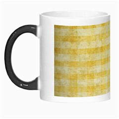 Spring Yellow Gingham Morph Mugs by BangZart