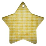 Spring Yellow Gingham Star Ornament (Two Sides) Back