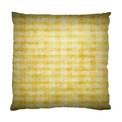 Spring Yellow Gingham Standard Cushion Case (two Sides) by BangZart