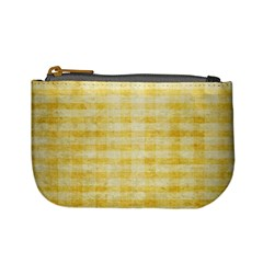 Spring Yellow Gingham Mini Coin Purses by BangZart