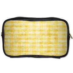 Spring Yellow Gingham Toiletries Bags 2 Side by BangZart
