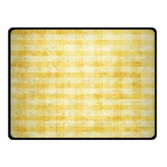 Spring Yellow Gingham Fleece Blanket (small) by BangZart